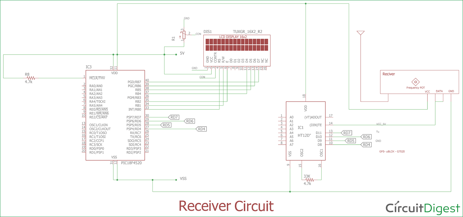 4x4 matrix keypad circuit diagram