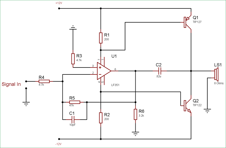 10 watt transistor audio amplifier