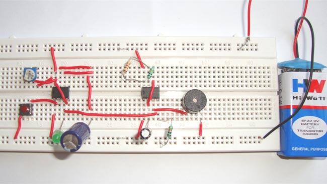 Doorbell Circuit Diagram using IC 555