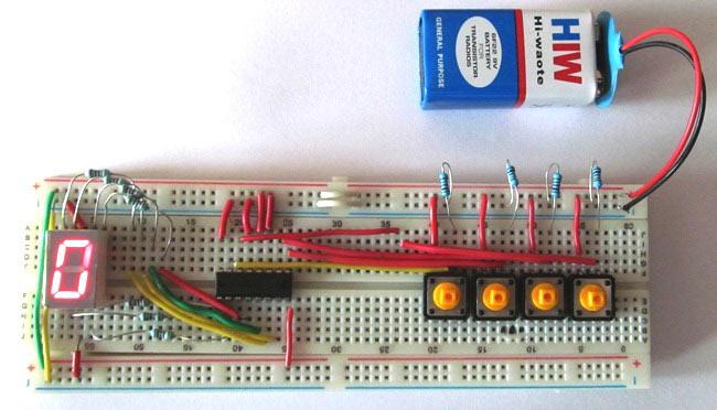 Driving a 7-Segment Display using a BCD to 7 Segment Driver IC (CD4511)