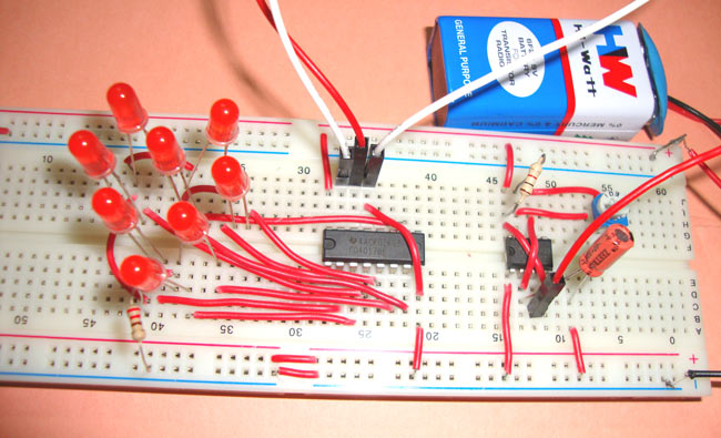 Heart Shaped Serial LED Flasher Circuit Diagram using IC 555 and IC 4017