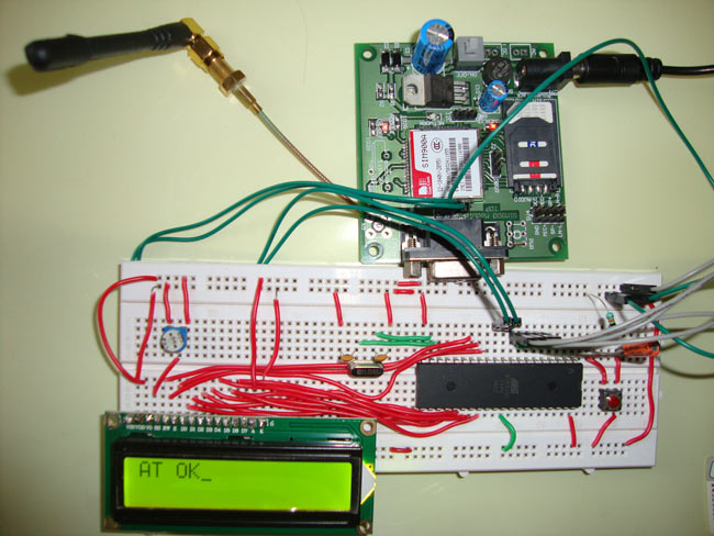 GSM Module Interfacing with 8051 Microcontroller (AT89S52) Circuit