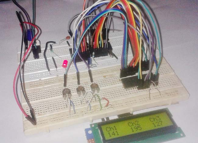 Interfacing ADC0808 with 8051 Microcontroller Tutorial with Circuit