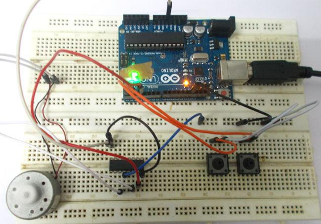 DC Motor Speed Control using Arduino Uno