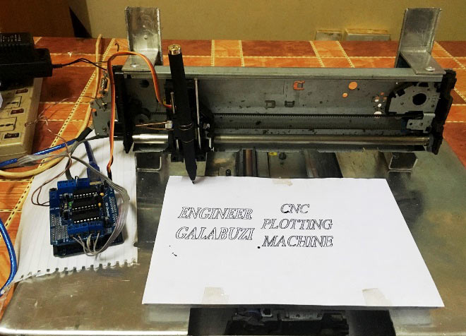 DIY Arduino Uno CNC Plotter Machine Project with Code and Circuit