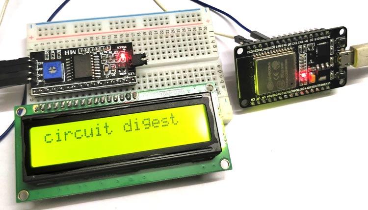 Interfacing 16X2 LCD with ESP32 using I2C