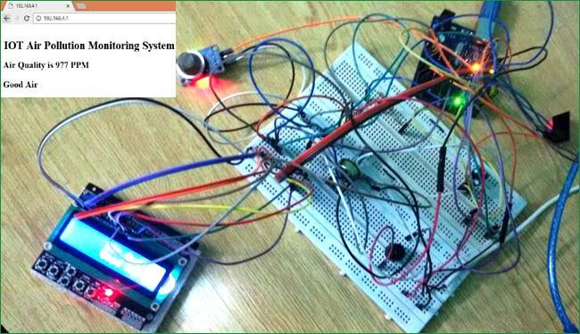 IOT Based Air Pollution Monitoring System using Arduino  MQ135 Sensor