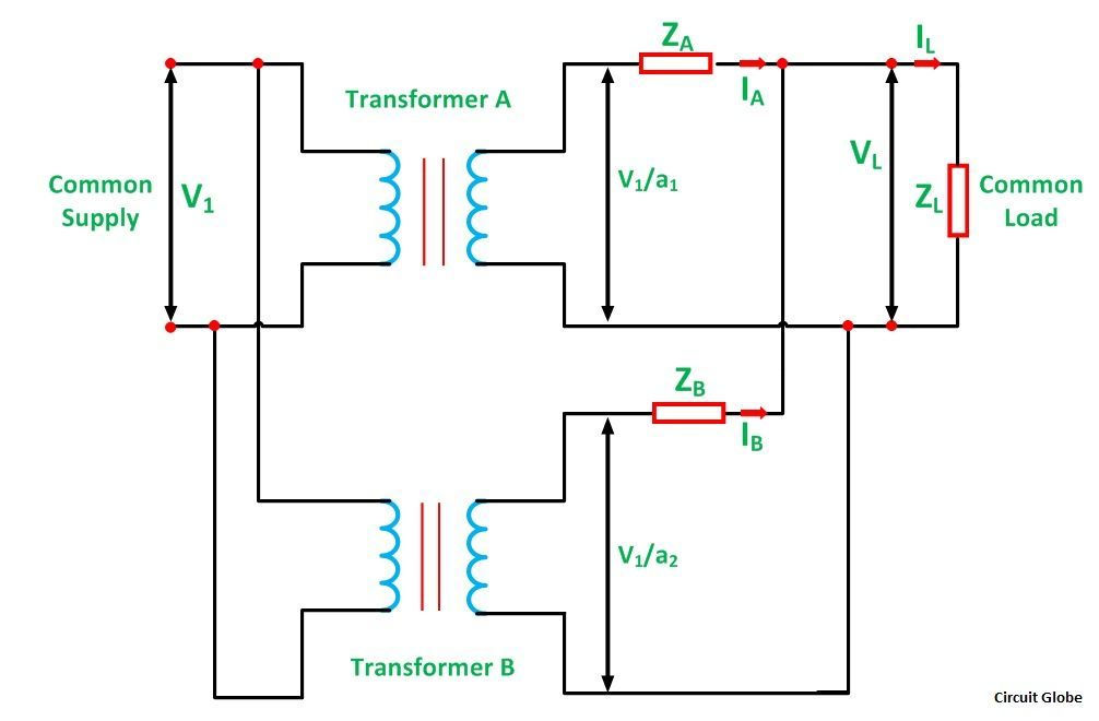 Parallel Operation of a Single Phase Transformer - Circuit Globe