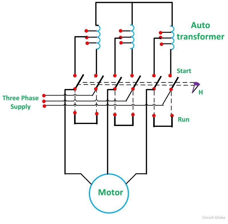 starter motor circuit diagram