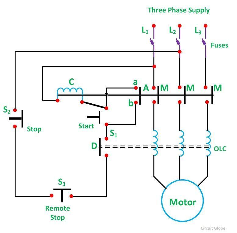 Direct Online Motor Starter Wiring Diagram - 1efievudf