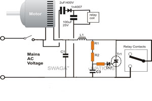 single phase motor soft starter circuit diagram