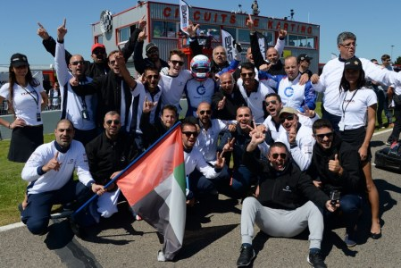 CG Racing Pro celebrate their podium placing in France