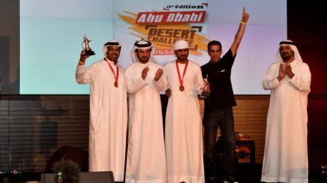 T2 production class winner Mansour Al Helei who shared his trophy with father Yahya