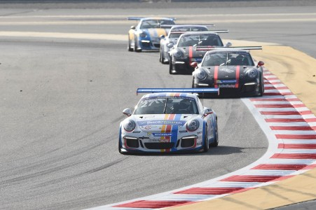 Fahad Al Gosaibi leads the pack to a win in race 2