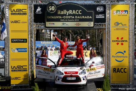 Mohamed Al Mutawaa won the WRC3 category in a DS3 R3...