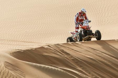 Rafal Sonik lost his chance of claiming victory in the quad category after technical problems
