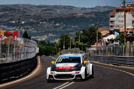 The beautiful backdrop of Vila Real as Citroen once again dominate