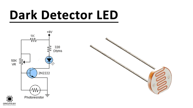 dark activated led or lamp flasher circuit