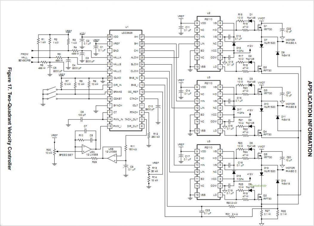 Auto Electrical Wiring Diagram Tda5140a Brushless Dc Motor Circuit And Datasheet Pwm Connected To Pic Eval Images 3 Phase Bldc Driver