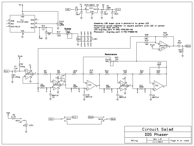 envelope phaser schematic