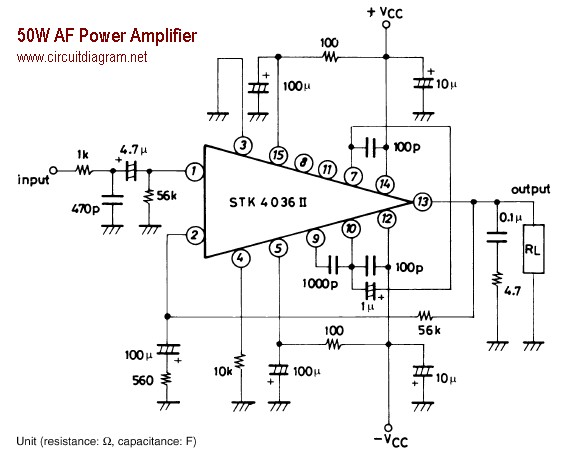 car audio amp schematic