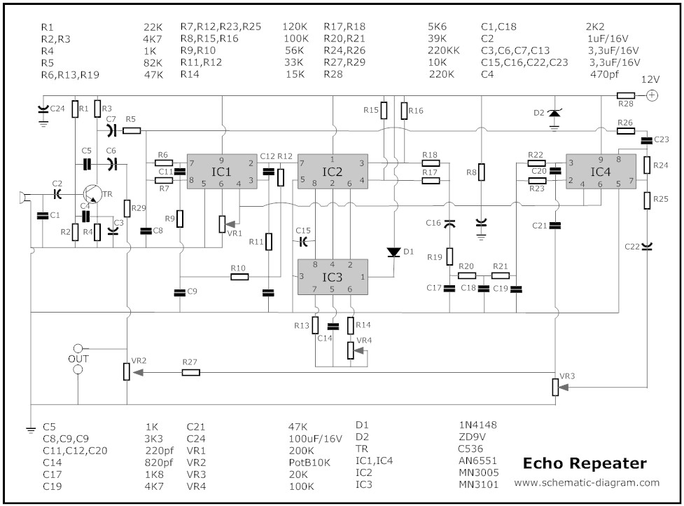 Echo Mic Circuit Diagrams Wiring Diagram