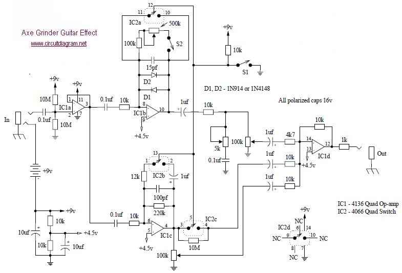 guitar amp schematic diagram
