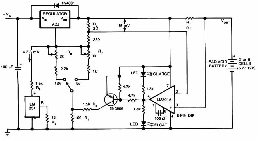 lead acid battery charger circuit schematic