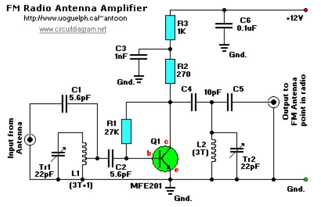 power supply for the fm antenna amplifier