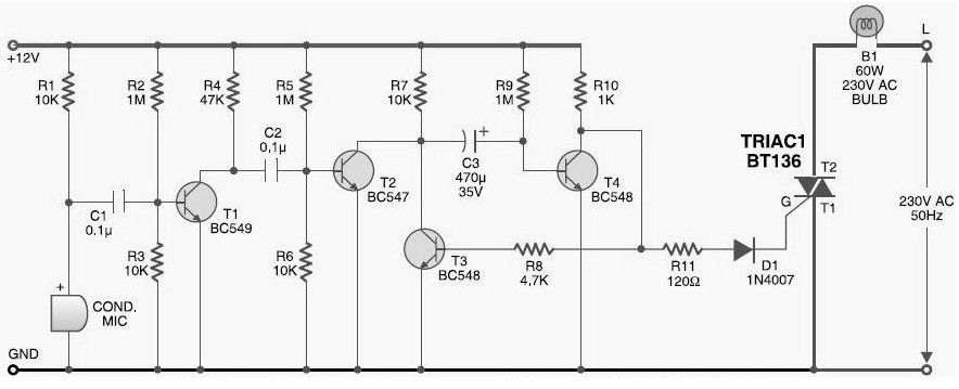 photo sensor switch circuit diagram