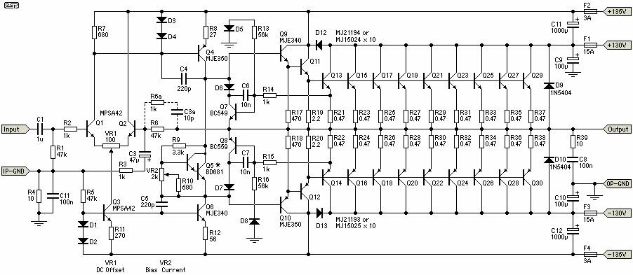 electronic led circuit diagram