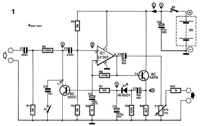 audio compressor schematic