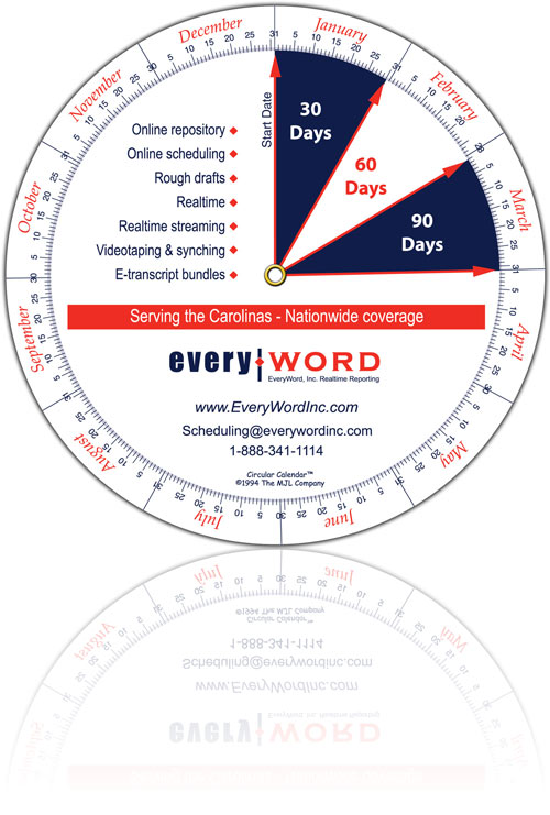 Circular Calendar - Custom Calendar Wheels - circular calendar