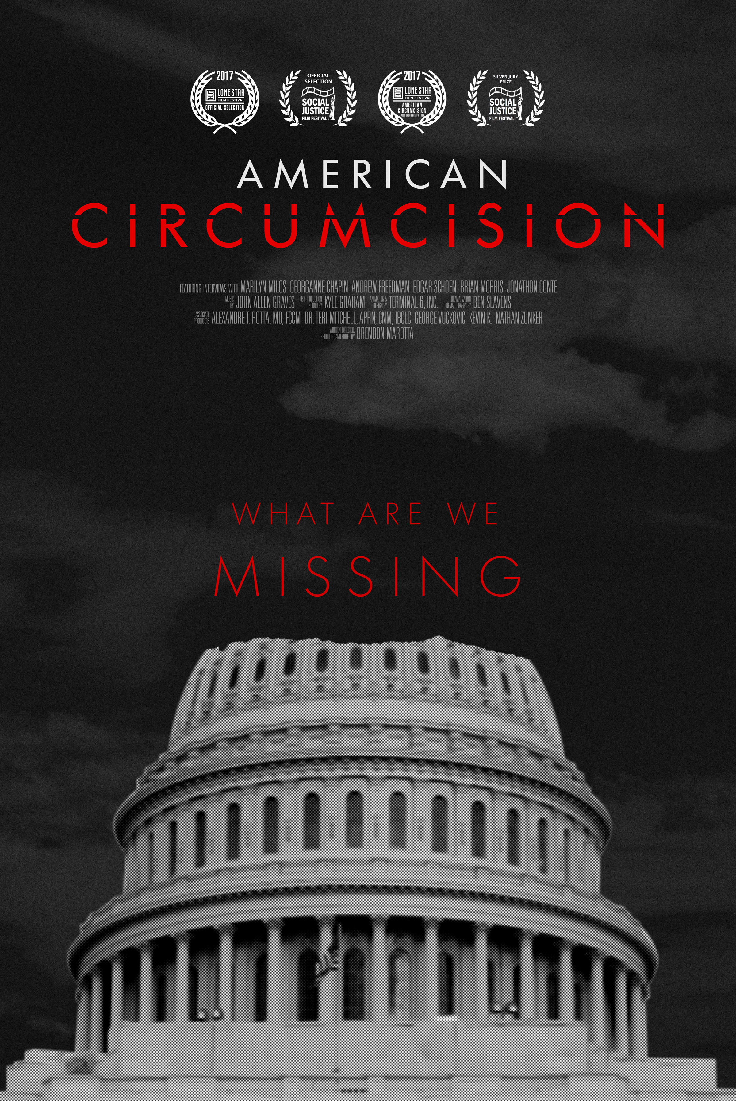 Poster Red Posters American Circumcision