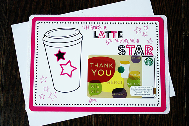 thanks a latte {printable} Circus Berry