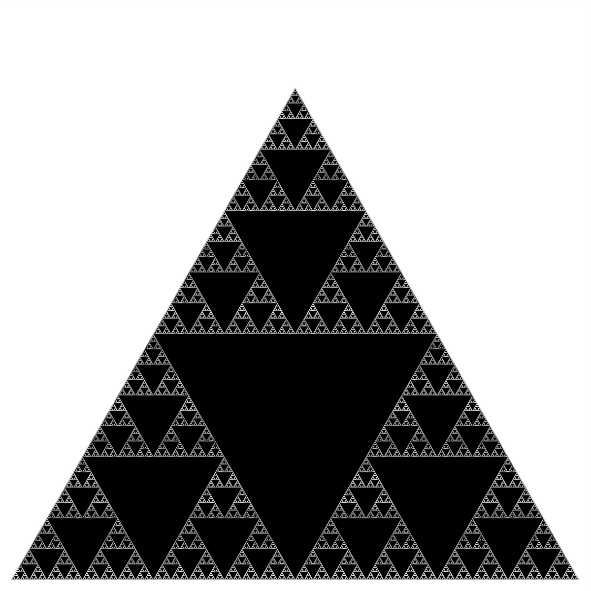 Clay Triangle Drawing Recursive Graphics Assignment