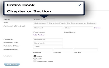 MLA Citation Generator - Mla Work Cited Book