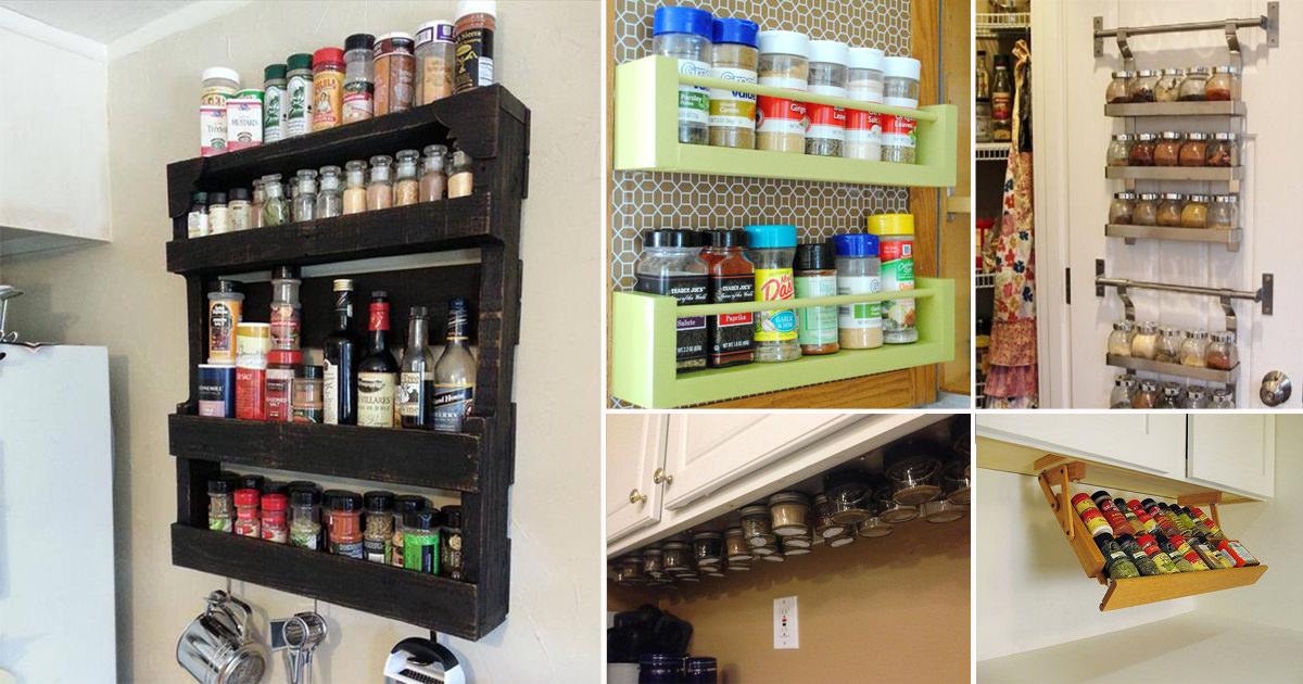 37 Easy Diy Spice Storage Ideas Citchen