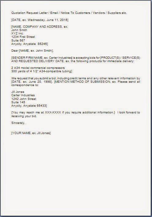 Bid Invitation Letter Format citehrblog - bid format