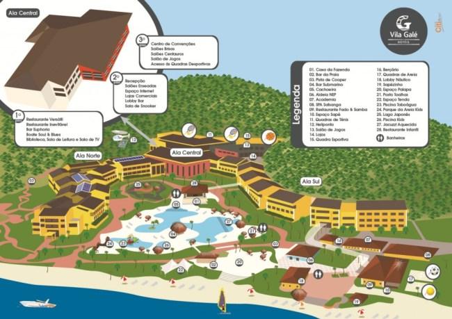 Vila Galé Angra: Mapa Ilustrado das Áreas do Hotel para Hóspedes