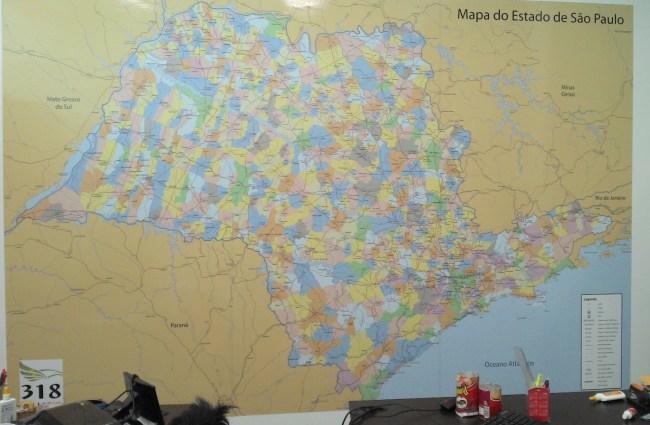 Mapa Estado de SP