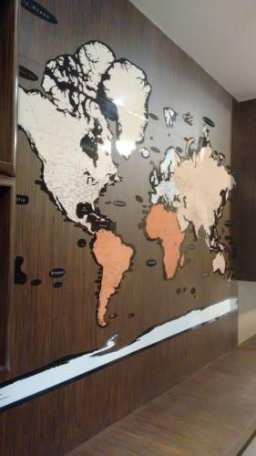 Mapa Mundi para Painel