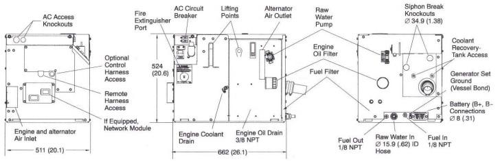 CUMMINS ONAN 5 kW Marine Generator MDKBH