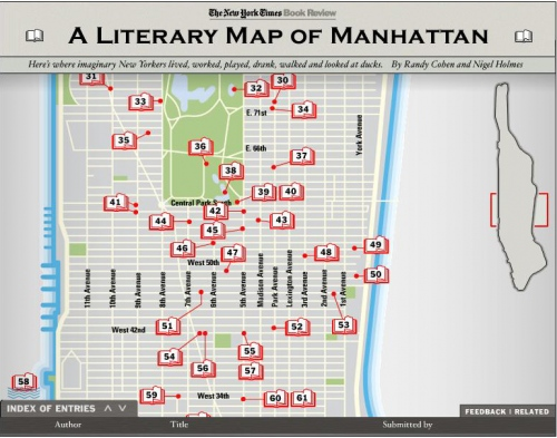 A Literary Map of Manhattan