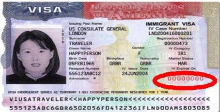 Location Of The Visa Number Citizenpath