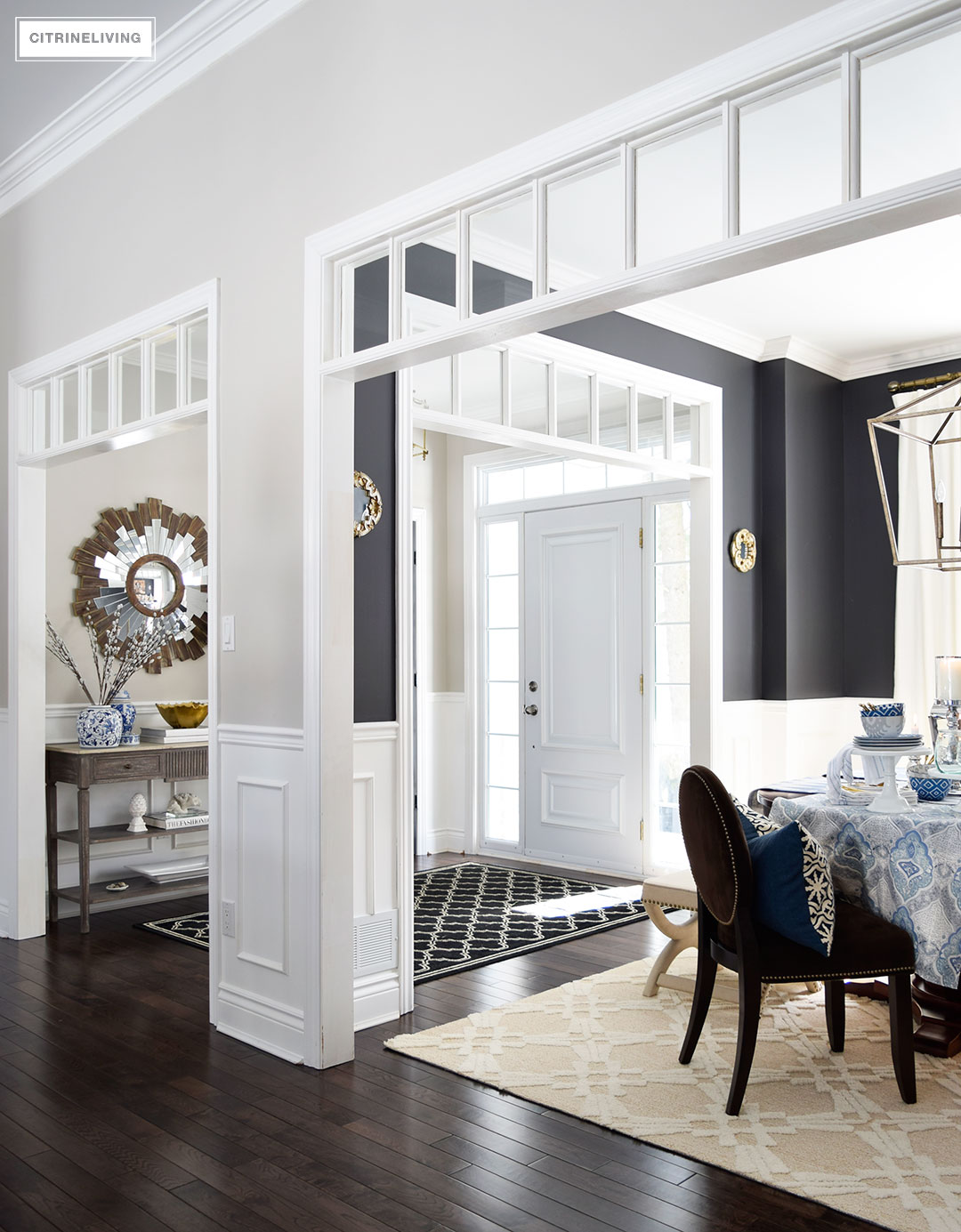 Dining Room Entry Designs Citrineliving Fourteen Ideas To Style Your Home For Spring