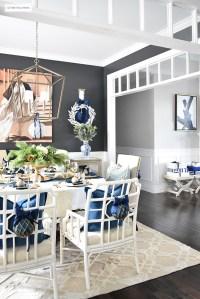Blue And White Dining Room - Frasesdeconquista.com