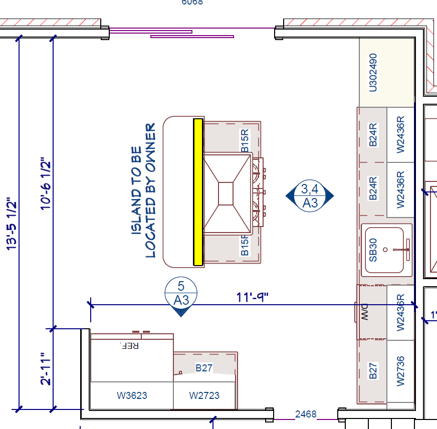 Distance Between Island And Counter Kitchen Island Distance To Cabinets (dishwasher, Stove
