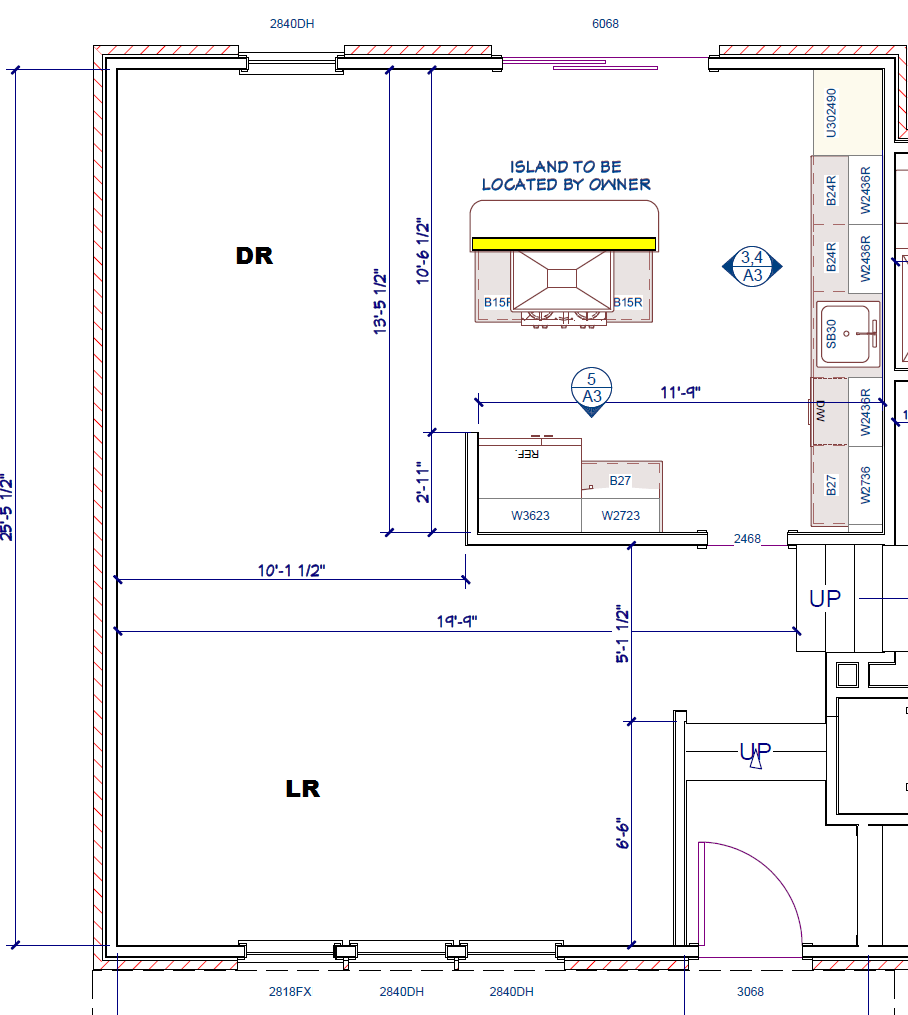 Distance Between Island And Counter Kitchen Island Distance To Cabinets (floor, How Much