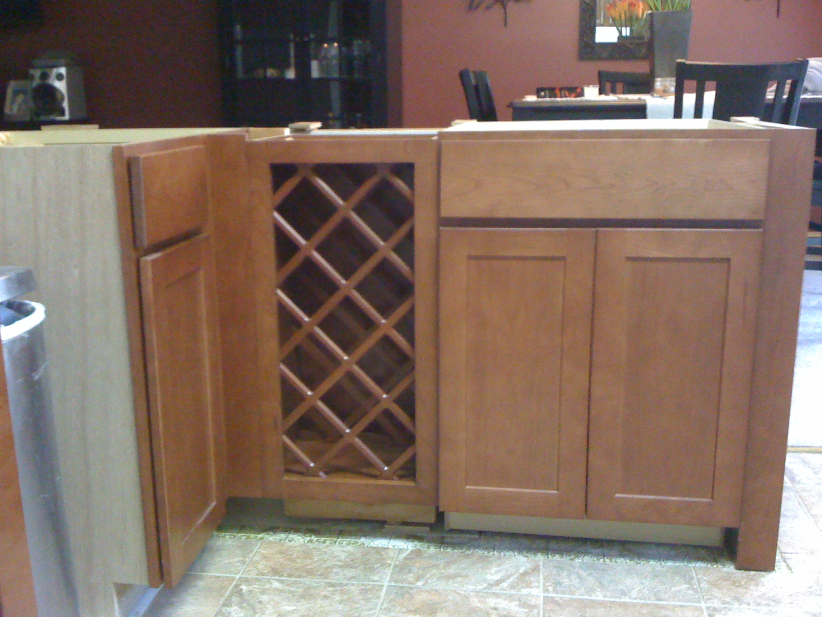 Kitchen Wine Cabinet Installing 30 Inch Base Wine Rack Next To Base Cabinets